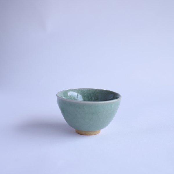 緑青磁 せん茶碗