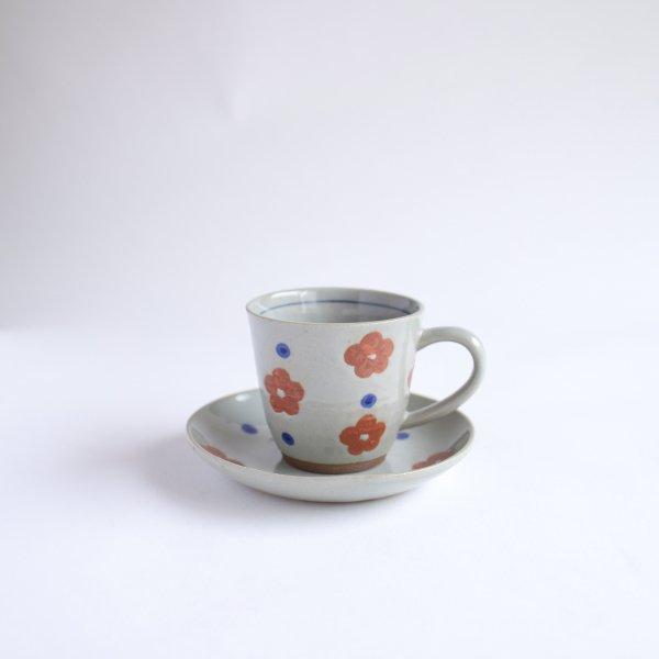 小花ちらし コーヒー碗皿