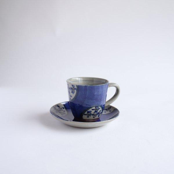 ダミ小花 コーヒー碗皿
