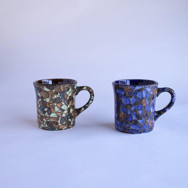 mozaic マグ グリーン/ ブルー