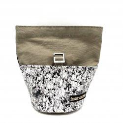 FINGER JOINT「Chalk Bucket」 フィンガージョイント チョークバケット 本革×パラフィン帆布 メタルバックル ブラウン