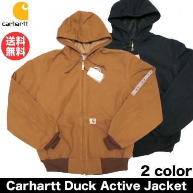 Carhartt Duck Active Jacket / カーハート ダックアクティブジャケット J131 メンズ アウター アメカジ 送料無料 USモデル ブラック ブラ…