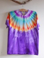 <img class='new_mark_img1' src='//img.shop-pro.jp/img/new/icons15.gif' style='border:none;display:inline;margin:0px;padding:0px;width:auto;' />Hippies Dye☆Tシャツ Mサイズ ネイティブ風タイダイ☆パープル☆