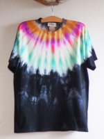 <img class='new_mark_img1' src='//img.shop-pro.jp/img/new/icons15.gif' style='border:none;display:inline;margin:0px;padding:0px;width:auto;' />Hippies Dye☆Tシャツ Lサイズ ネイティブ風タイダイ☆ブラック☆