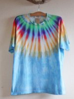 <img class='new_mark_img1' src='//img.shop-pro.jp/img/new/icons15.gif' style='border:none;display:inline;margin:0px;padding:0px;width:auto;' />Hippies Dye☆Tシャツ Lサイズ ネイティブ風タイダイ☆ブルー☆