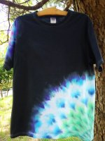 <img class='new_mark_img1' src='//img.shop-pro.jp/img/new/icons15.gif' style='border:none;display:inline;margin:0px;padding:0px;width:auto;' />Hippies Dye☆Tシャツ Lサイズ 曼荼羅☆ブラック☆