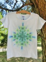 <img class='new_mark_img1' src='https://img.shop-pro.jp/img/new/icons15.gif' style='border:none;display:inline;margin:0px;padding:0px;width:auto;' />Hippies Dye☆Tシャツ レディースMサイズ ホワイト☆