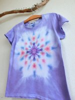 <img class='new_mark_img1' src='//img.shop-pro.jp/img/new/icons15.gif' style='border:none;display:inline;margin:0px;padding:0px;width:auto;' />Hippies Dye☆Tシャツ レディースLサイズ  ラベンダー☆