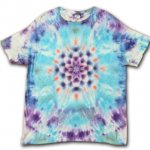 <img class='new_mark_img1' src='https://img.shop-pro.jp/img/new/icons15.gif' style='border:none;display:inline;margin:0px;padding:0px;width:auto;' />Hippies Dye☆Tシャツ XXLサイズ ムラ染めブルー&パープルに美しい曼荼羅模様!