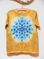 <img class='new_mark_img1' src='https://img.shop-pro.jp/img/new/icons15.gif' style='border:none;display:inline;margin:0px;padding:0px;width:auto;' />Hippies Dye☆Tシャツ Mサイズ タイダイ曼荼羅☆ マスタード