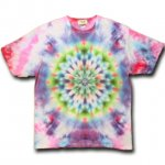 <img class='new_mark_img1' src='https://img.shop-pro.jp/img/new/icons15.gif' style='border:none;display:inline;margin:0px;padding:0px;width:auto;' />Hippies Dye☆Tシャツ XXLサイズ ブルーピンク系ムラ染めに美しい曼荼羅模様!