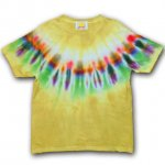 <img class='new_mark_img1' src='https://img.shop-pro.jp/img/new/icons15.gif' style='border:none;display:inline;margin:0px;padding:0px;width:auto;' />Hippies Dye☆Tシャツ Mサイズ ネイティブ風タイダイ☆マスタード☆