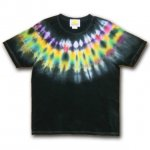 <img class='new_mark_img1' src='https://img.shop-pro.jp/img/new/icons15.gif' style='border:none;display:inline;margin:0px;padding:0px;width:auto;' />Hippies Dye☆Tシャツ Lサイズ ネイティブ風タイダイ☆ブラック☆