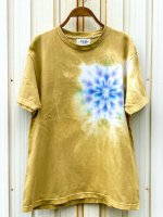 <img class='new_mark_img1' src='https://img.shop-pro.jp/img/new/icons15.gif' style='border:none;display:inline;margin:0px;padding:0px;width:auto;' />Hippies Dye☆Tシャツ Mサイズ タイダイ曼荼羅☆ マスタード