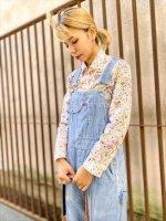 レトロな古着シャツ 50's60's70's 長袖 ブラウス シャツ  花柄 小花柄