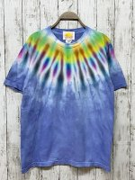 <img class='new_mark_img1' src='https://img.shop-pro.jp/img/new/icons15.gif' style='border:none;display:inline;margin:0px;padding:0px;width:auto;' />Hippies Dye Tシャツ Mサイズ ネイティブ風タイダイ染め ブルー