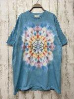 <img class='new_mark_img1' src='https://img.shop-pro.jp/img/new/icons15.gif' style='border:none;display:inline;margin:0px;padding:0px;width:auto;' />タイダイ染め  Tシャツ XLサイズ  ブルー 曼荼羅 Hippies Dye
