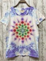 <img class='new_mark_img1' src='https://img.shop-pro.jp/img/new/icons15.gif' style='border:none;display:inline;margin:0px;padding:0px;width:auto;' />タイダイ染め レディースTシャツ WLサイズ 曼荼羅 ムラ染め パープル  Hippies Dye