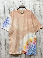 <img class='new_mark_img1' src='https://img.shop-pro.jp/img/new/icons15.gif' style='border:none;display:inline;margin:0px;padding:0px;width:auto;' />タイダイ染め Tシャツ XLサイズ 曼荼羅  洗柿色 Hippies Dye