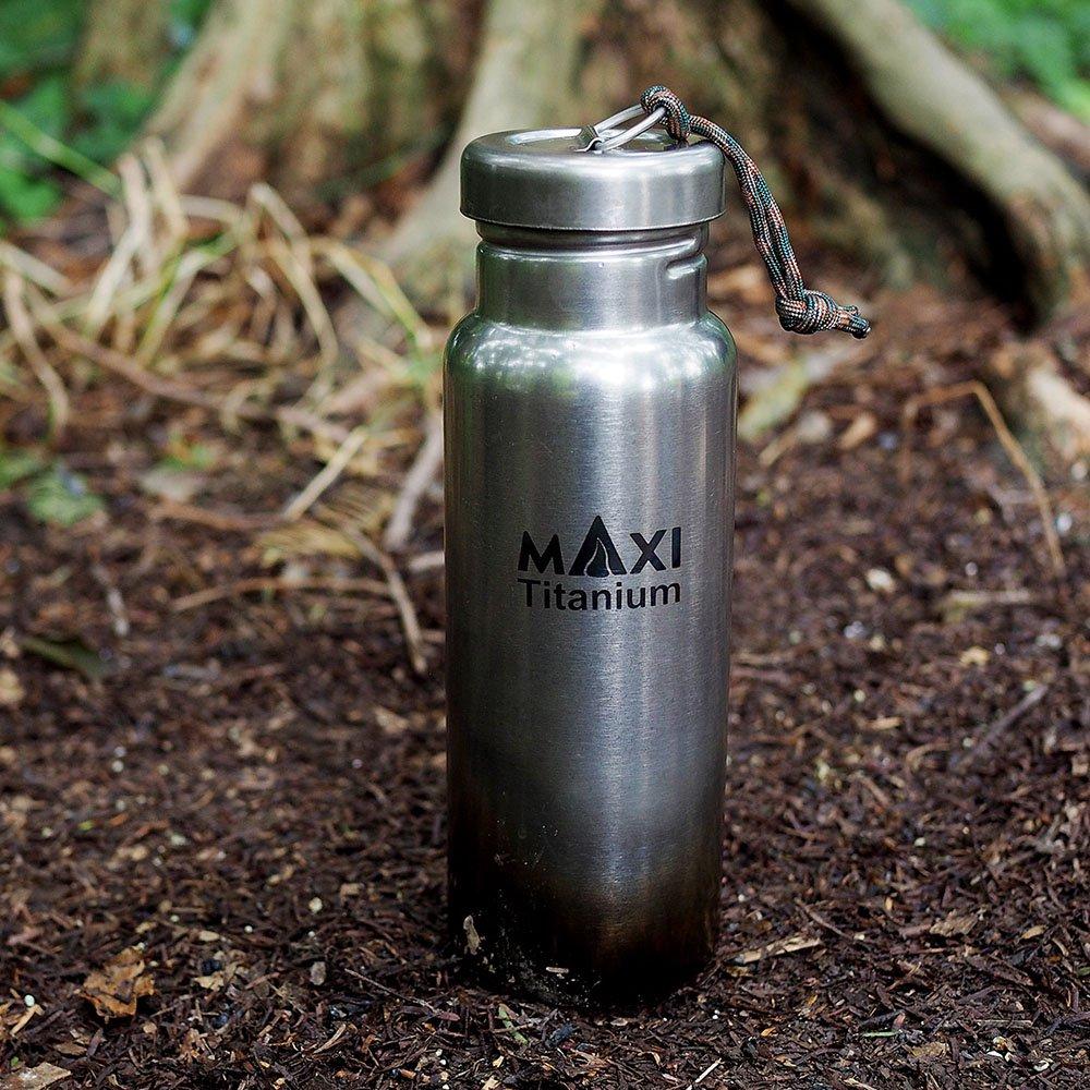 MAXI マキシ ウォーターボトル800ml チタン 水筒 ボトル クッカー アウトドア
