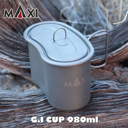MAXI マキシ G.I Cup ジーアイカップ 980ml チタン クッカー 飯ごう アウトドア キャンプ
