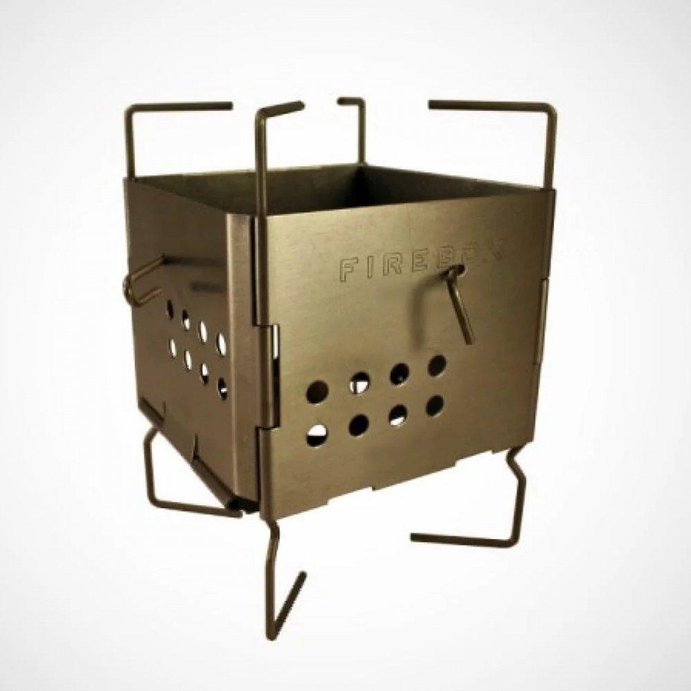 ファイヤーボックス ナノボックスセット チタン キャンプストーブ バーベキューコンロ FIREBOX Nano Stove SET Titanium firebox-03