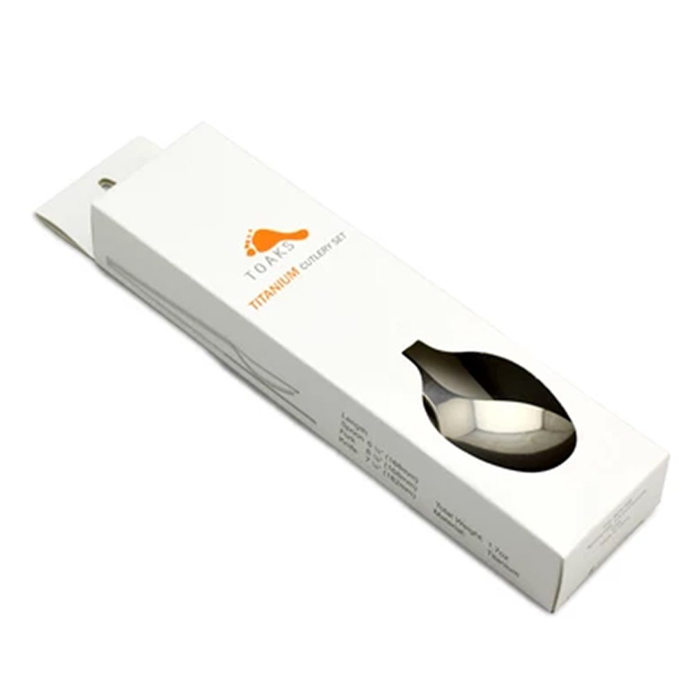 TOAKS トークス Titanium 3 Cutlery Set チタニウム 3カトラリーセット スプーン フォーク ナイフ アウトドア食器