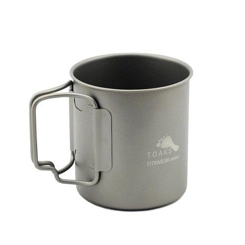 TOAKS トークス Titanium Cup 450ml チタニウム カップ450ml コップ アウトドア食器 カトラリー