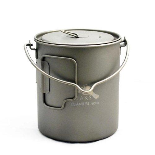 TOAKS トークス Titanium Pot 750ml with Bail Handle チタニウム ポット ベイルハンドル付 アウトドア食器 カトラリー