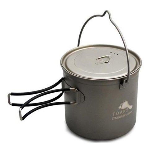 TOAKS トークス Titanium Pot 1100ml with Bail Handle チタニウム ポット ベイルハンドル付 アウトドア食器 カトラリー