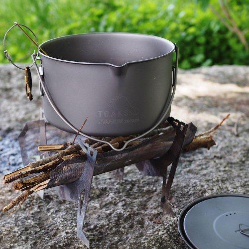 TOAKS トークス Titanium Pot 2000ml with Bail Handle チタニウム ポット ベイルハンドル付 アウトドア食器 カトラリー