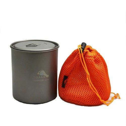 TOAKS トークス Titanium Pot 750ml without Handle チタニウム ポット ハンドルなし アウトドア食器 カトラリー