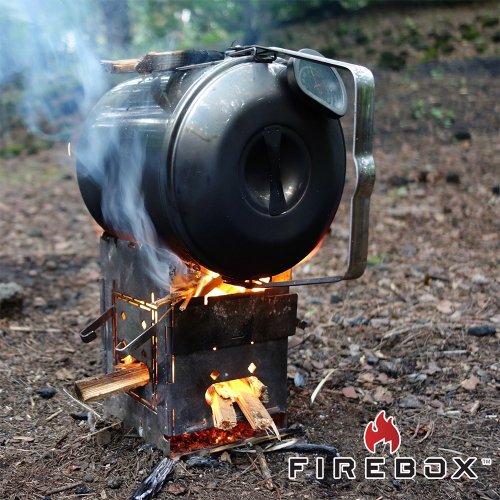アウトドア クッカーセット 調理器具 ファイヤーボックス オーブンセット キャンプ用品 ステンレス製ポット Firebox Oven Set