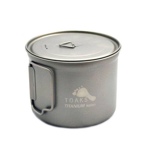 トークス チタニウム ショートハンドルポット900ml TOAKS Pot 900ml D115mm アウトドア食器 POT-900-D115