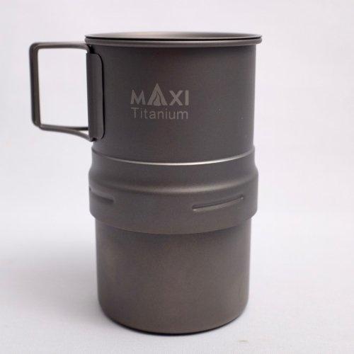 マキシ エスプレッソ コーヒーメーカー 200ml グレード1チタン トレイル アウトドア キャンプ Maxi Espresso Coffee Maker 200ml MAXI-EC-200