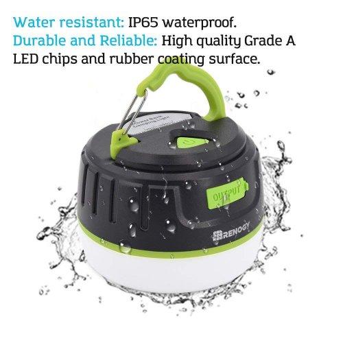 充電式LEDキャンプランタン 5200mAhパワーバンク アウトドアライト 五つ点灯モード キャンプライト モバイルバッテリー パワーバング機能 防水&防塵 防災 rc-lg-01