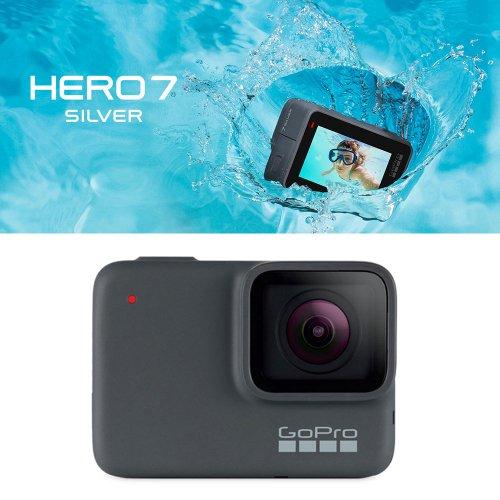 ゴープロ ヒーロー7 シルバー アクションカメラ ウェアラブルカメラ ビデオ Gopro HERO7 Silver 防水 CHDHC-601-FW