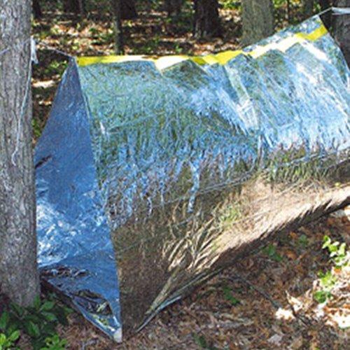 ブッシュクラフト 非常用テント 10セット 簡易テント 筒状 エマージェンシー ビバーク アルミテント 災害用 アウトドア キャンプ Bush Craft