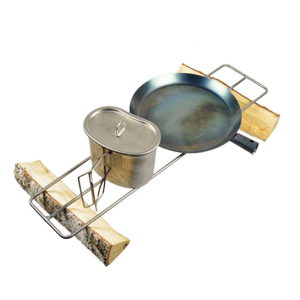 ブッシュクラフト たき火ゴトク L 純チタン中空パイプ 直火 ソロハイク 純チタン キャンプ用品 Bush Craft