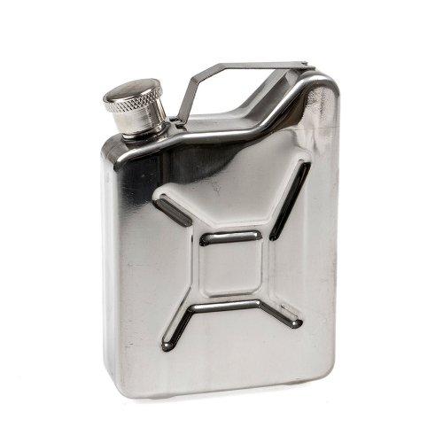 ROTHCO ロスコ ステンレスミニジェリ缶 ミリタリースタイル ミニチュア ガソリン携行缶 ステンレス缶 燃料用オイルの小分け容器 キャンプ用品