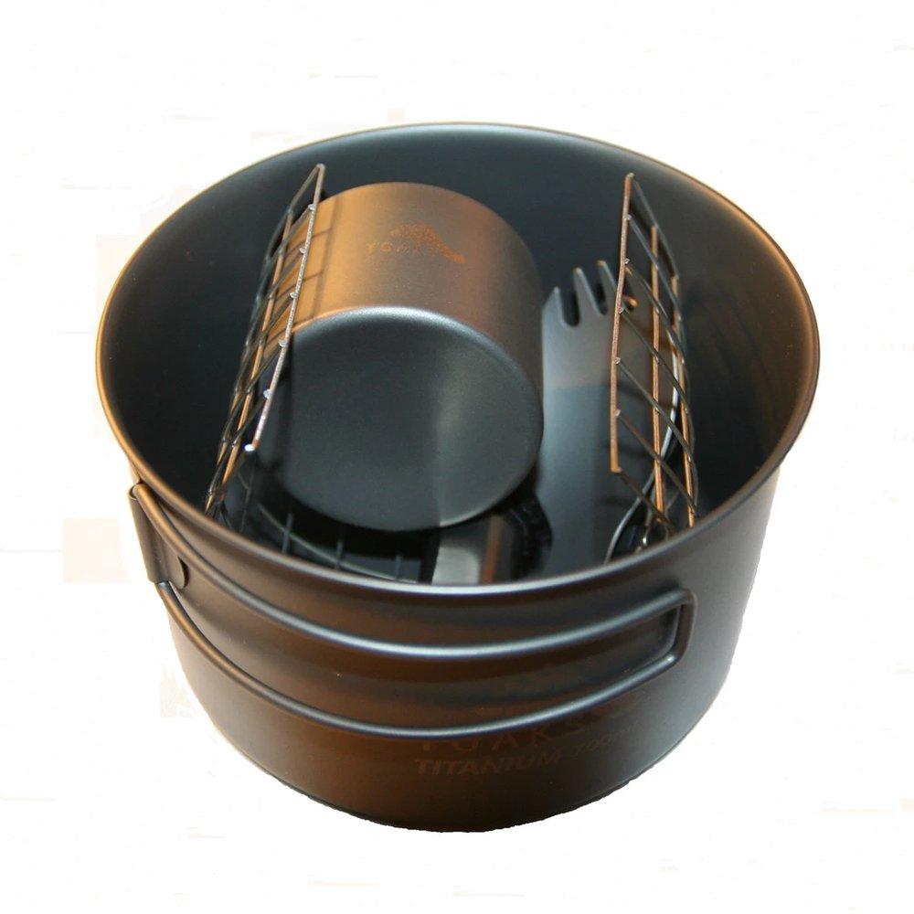 トークス ソロセット チタニウム アルコールストーブ クックセット クッカー アウトドア TOAKS Titanium Alcohol Stove Cook Set