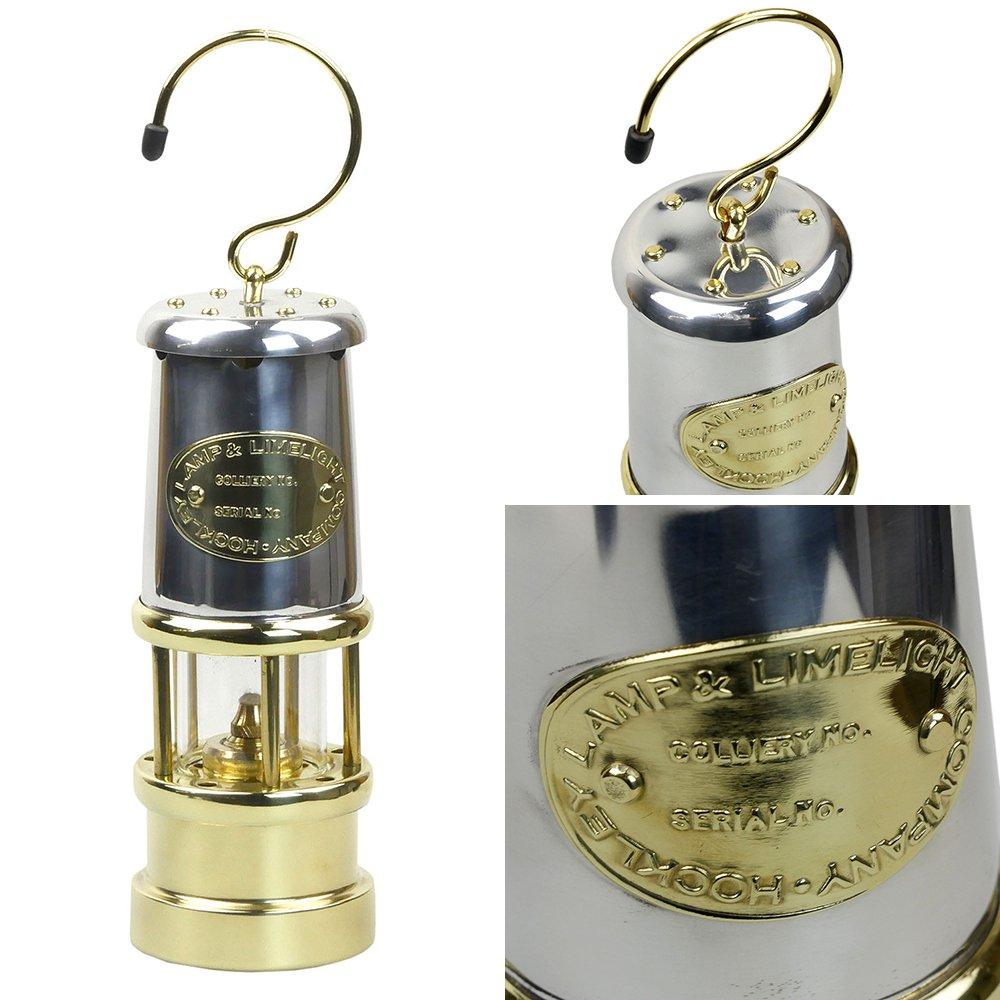 jdバーフォード マイナーズランプ Mサイズ ニッケル&ブラス #N58 セーフティーランプ オイル ランプ ハンドメイド キャンプ用品 jd burford miners lamp ランタン