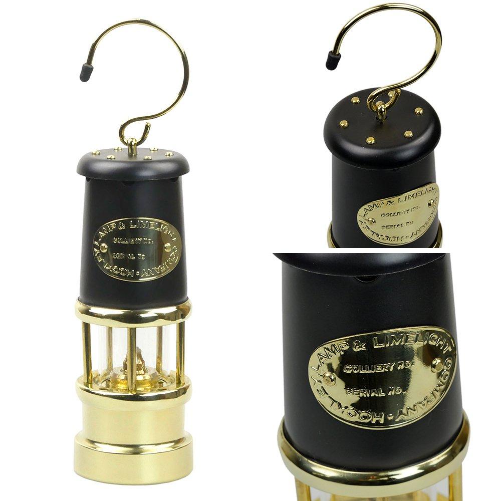 jdバーフォード マイナーズランプ Mサイズ ブラック&ブラス #97 セーフティーランプ オイル ランプ ハンドメイド キャンプ用品 jd burford miners lamp ランタン