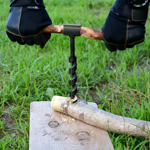 ブッシュドリル 穴あけドリル ハンドドリル 木材 穴あけ 工具 手動 ブッシュクラフト サバイバル キャンプ アウトドア BBQ Bush Craft Drill