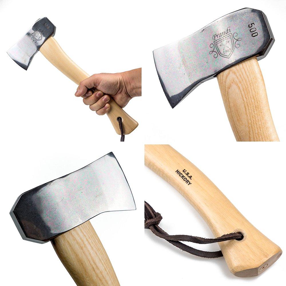 キャンピングハチェット500 クラシック ヒッコリーハンドル プランディ 斧 PRANDI オノ 焚き付け作成用斧 薪割り キャンプ アウトドア