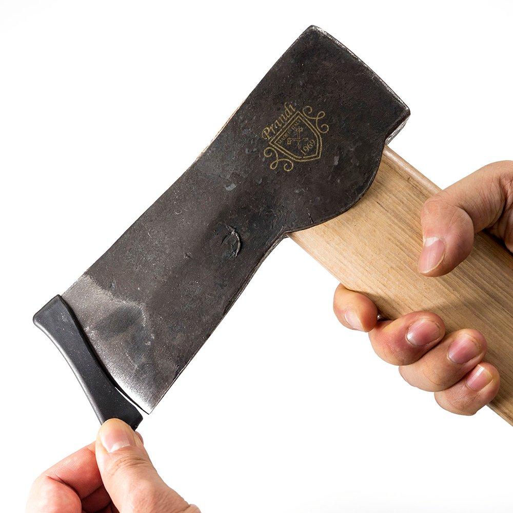 スカンジナビアン スプリッティングウェッジアックス1500 トラディショナル ヒッコリーハンドル プランディ 斧 PRANDI オノ 焚き付け作成用斧 薪割り キャンプ アウトドア