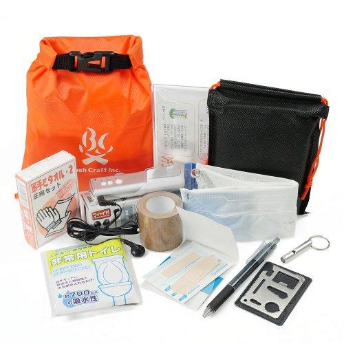 BC携帯非常袋 オレンジ ブッシュクラフト 防災袋 緊急時 サバイバル キャンプ アウトドア Bush Craft