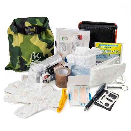 BC携帯非常袋 カモ ブッシュクラフト 防災袋 緊急時 サバイバル キャンプ アウトドア Bush Craft