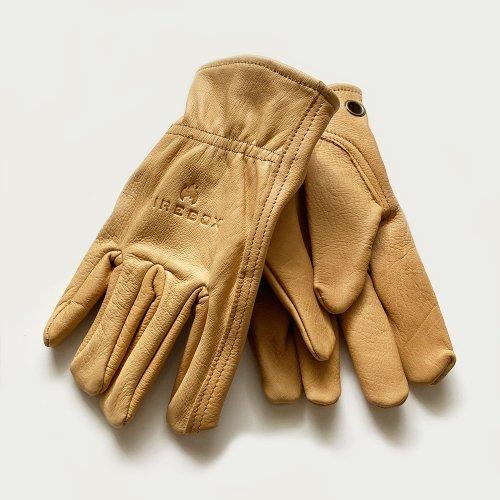 ファイヤーボックス レザーグローブ 牛革 ブッシュクラフトグローブ Firebox Cowhide Leather Gloves FB-LGS キャンプ アウトドア