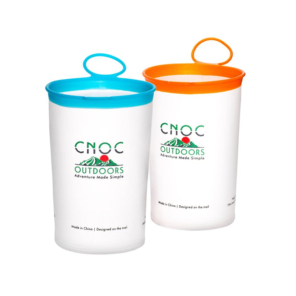 Cnoc Curn Collapsible Cups Pair クノック 2カーンカップ(各250ml)TPU製 超軽量折りたたみ式カップ キャンプ クノックアウトドア CNOC Outdoor
